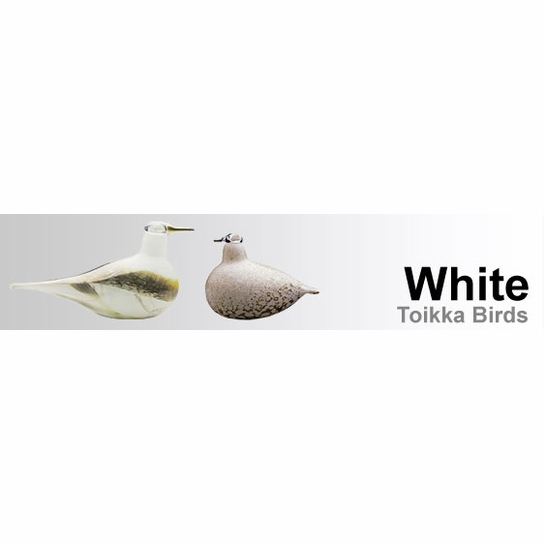 White Toikka Birds by iittala