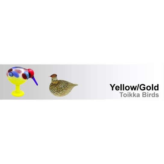 Yellow / Gold Toikka Birds by iittala