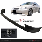01-03 Honda Civic 2/4DR HFP Front Body Bumper PU lip Spoiler Kit