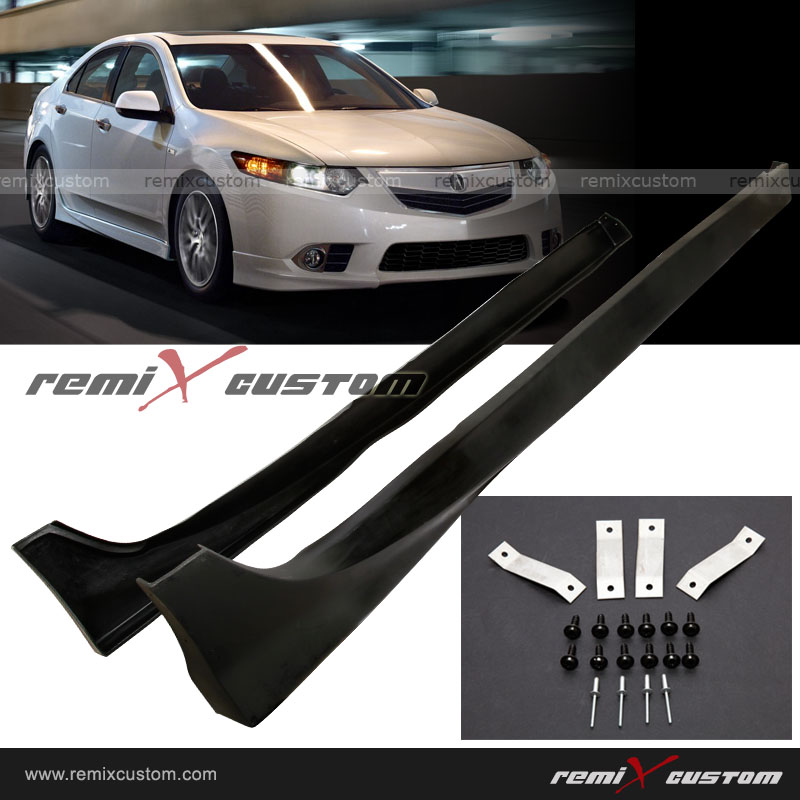 09 11 Acura Tsx Pu Body Side Skirt Lip Kit