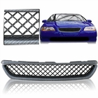 98-00 Honda Accord 2DR Coupe 3D-Mesh Design Front Hood Grill - Carbon Style