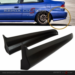 99-00 Honda Civic 2/4DR Mugen Style Rear Body Bumper Side Spats Caps Kit