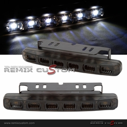 Universal SMDx6 LED DRL Day Time Driving Lights Smoke