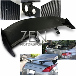 "Universe Type-Z Carbon Fiber Spoiler 61""X12""X13"" with High Wing Stand"