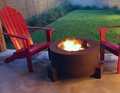 30 Inch Round Cor-Ten Steel Wood Burning Fire Pit