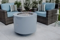 Powder Coated Fire PIt - Round Hidden Tank with Stainless Steel Fire Bowl