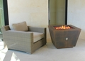 33 Inch Cor-Ten Steel Pyramid Fire Pit - Wood Burning with a Gas Ring