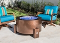 Powder Coated Fire Pit  - 37 Inch Round with Stainless Steel Fire Bowl
