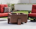 38 Inch Square Cor-Ten Steel Fire Pit