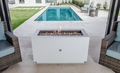 Powder Coated Fire Pit - Rectangular with Stainless Steel Fire Bowl