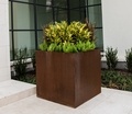 Square Cor-Ten Steel Planter
