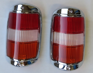 Amber early tail light lens with chrome new fits mercedes 190sl 190 sl w121