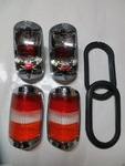 Complete Amber early tail lights fits mercedes 190sl 190 sl w121