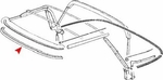 Front Seal at Upper Windshield frame (Roof Rail) to Convertible Top Part: Convertible Top Seal