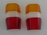 mercedes 190sl 190 sl w121 ponton tail light lens new with amber
