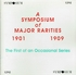 A Symposium of Major Rarities            (Symposium 1292)