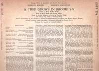 A Tree Grows in Brooklyn  (Col. ML 4405)   Original Broadway cast LP