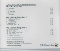 American Rarities, Vol. VIII - Aaron Copland; William Warfield         (St Laurent Studio YSL T-319)