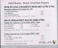 Adolf Busch, Vol. III;   Busch Chamber Players    (St Laurent Studio YSL 78-228)