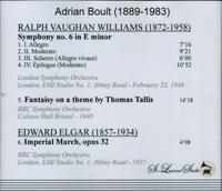 Adrian Boult, Vol. I   -  Elgar & Vaughan Williams    (St Laurent Studio YSL 78-177)
