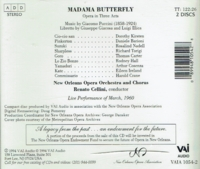Madama Butterfly   (Cellini;  Dorothy Kirsten, Daniele Barioni)  (2-VAIA 1054)