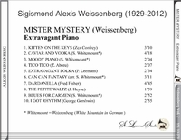Alexis Weissenberg, Vol. II  (Mister Mystery - Extravagant Piano)     (St Laurent Studio YSL 33-273)