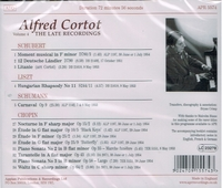 Alfred Cortot  - The Late Recordings, Vol. IV   (Appian APR 5574)