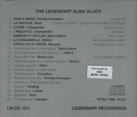 Alma Gluck     (Legendary Recordings 1011)
