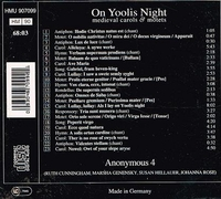 Anonymous 4  - On Yoolis Night    (Harmonia Mundi 907099)