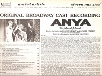 Anya     (United Artists UAS 5133)   Original Broadway cast LP