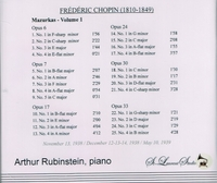 Arthur Rubinstein, Vol. I     (St Laurent Studio YSL 78-008)