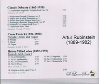 Arthur Rubinstein, Vol. III     (St Laurent Studio YSL 78-107)