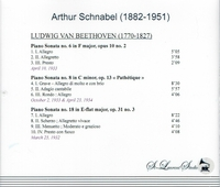 Artur Schnabel, Vol. IV  -  Beethoven       (St Laurent Studio YSL 78-408)