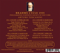 Arturo Toscanini;  Heifetz;  Horowitz      (Brahms)         (4-Immortal Performances IPCD 1025)