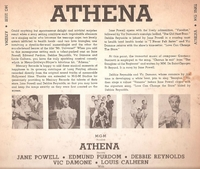 "Athena       (Mercury 10"" MG 25202)      Original M-G-M Soundtrack LP"