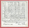 Bohm, Karl - Signed & inscribed mounted musical inscription