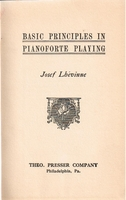 Basic Principles Pianoforte Playing      (JOSEF LHEVINNE)