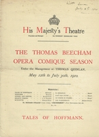 Beecham, Sir Thomas -  programs & broadsides, etc.
