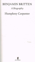 Benjamin Britten - a biography  (Humphrey Carpenter)    0571143245