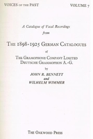 Bennett & Wimmer - Voices of the Past, Vol.VII - German Catalogue