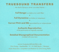 Betty Fischer           (Truesound Transfers 5001)