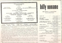 Billy Noname    (Roulette SROC-11)    Original Off-Broadway cast LP