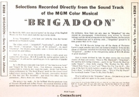 Brigadoon      (M-G-M E3135)      LP Soundtrack of the M-G-M film