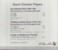 Busch Chamber Players, Vol. I;   Serkin;  Istomin     (St Laurent Studio YSL 78-084)