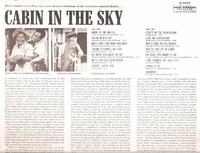 Cabin in the Sky  (Capitol W 2073)  Original Broadway Revival Cast LP