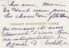 Carre, Marguerite - two-faced signed Carte de Visite note