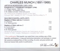 Charles Munch, Vol. I  -  Honegger & Ravel   (St Laurent Studio YSL 78-166)