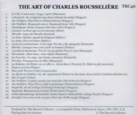 Charles Rousseliere     (The Record Collector TRC 46)