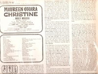 Christine         (Columbia OS 2026)        Original Broadway cast LP