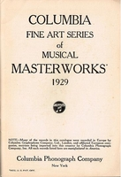Columbia 1929 Fine Arts Records Catalogue